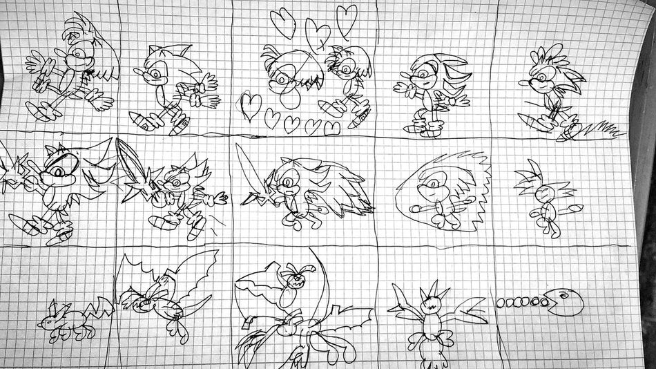 Art, Drawing, Creativity Children Drawing Comic Style Black And White Sonic Drawing ✏