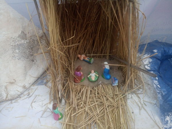 Celebration Christmas Collection Close-up Crib Day Indoors  Merry Christmas Merry Christmas Eve! Merry Christmas! Nativity Church Nativity Figurine Nativity Scene No People Sand Traveling Home For The Holidays Tree