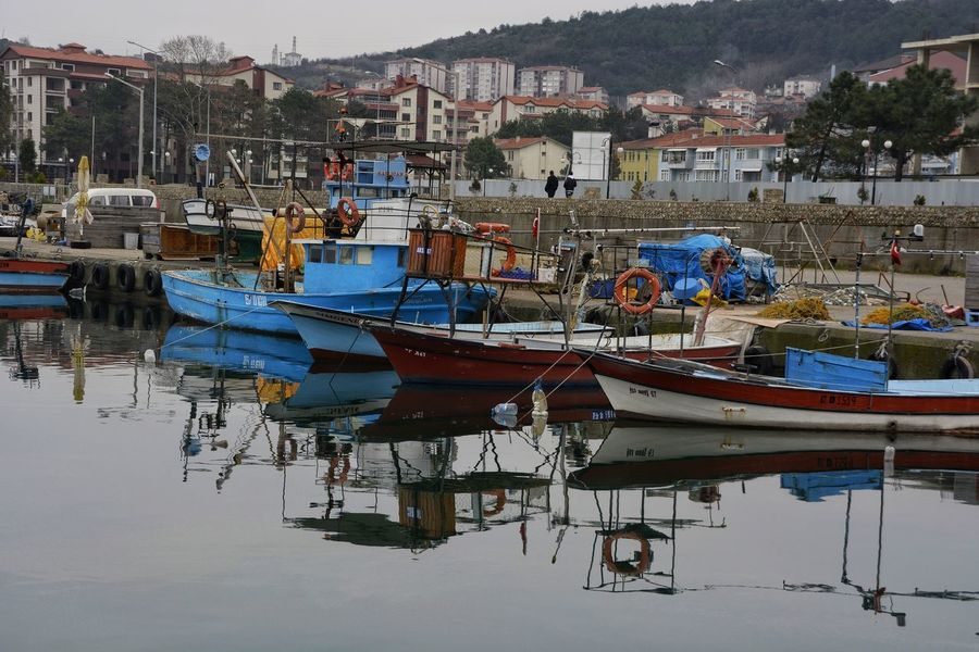 Zonguldak Filyos Reflection Nautical Vessel Water Mode Of Transport Moored No People Outdoors