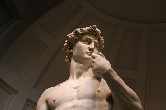 David Florence Italy Accademia Architecture Art And Craft Built Structure Day Human Representation Indoors  Low Angle View Male Likeness Michelangelo's David No People Renaissance Sculpture Statue