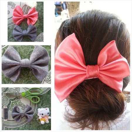 I made myself a hairbow. :) its so cute that I made two! :D Toogirly Hairbow OldDresses