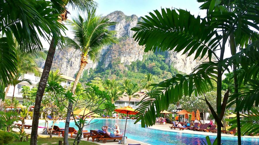 South Thailand Ao Nang, Krabi. Hotel View Beautiful Landscape Beautyful Hotel Location Swimming Pool Pool Time Learn & Shoot: Layering Edge Of The World