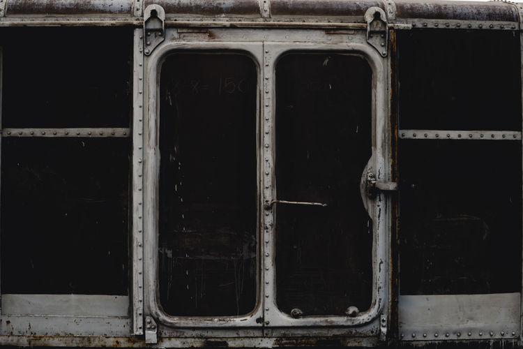 Old rusty car window