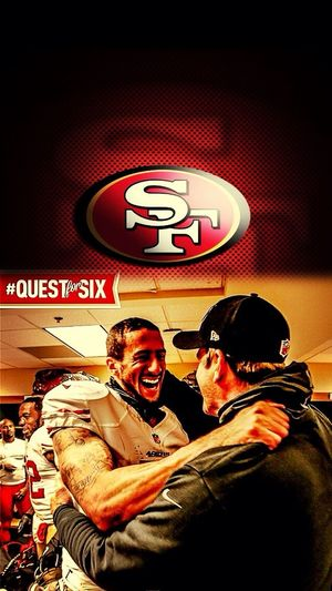 Kaepernick Big Smile ! ! He's super star ! ! Go 49ers ! !