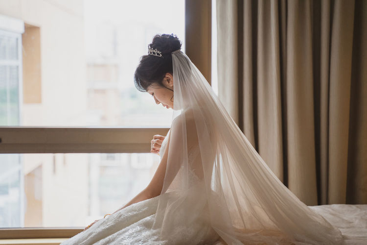 Girl woman wedding dress