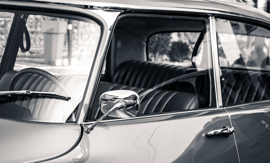 A car that would be mine | Pallas Black & White Black&white Blackandwhite Car Car Interior Citroen Cropped Glass - Material Land Vehicle Mode Of Transport Old Cars Pallas Part Of Reflection Seats Side-view Mirror Torino Torino, Italy Torinomaivista Transparent Transportation Travel Turin Turin Italy Vehicle Interior