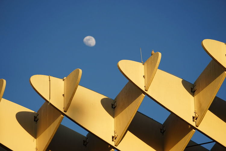 Somewhere under the moon Blue Sky Encarnación Square Jürgen Mayer Metropol Parasol Moon Sevilla Seville Sky The Architect - 2017 EyeEm Awards Wooden Structure Yellow