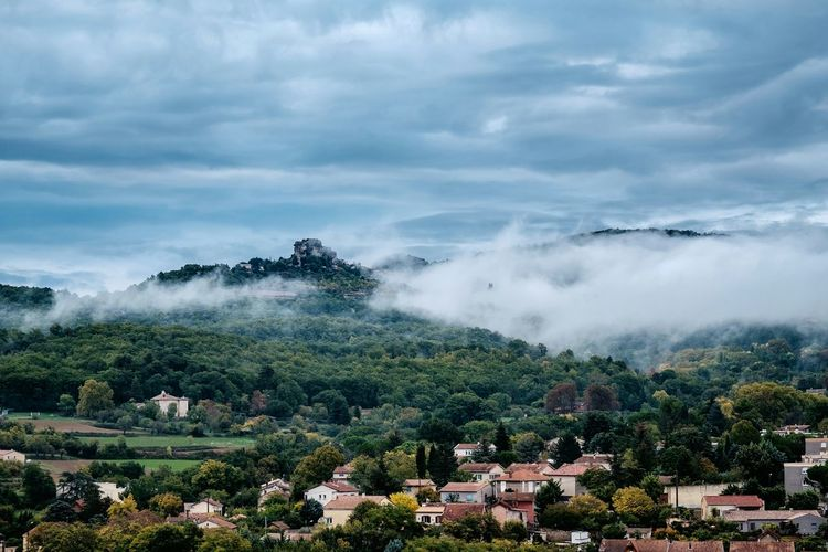 the hills. BonVoyage Good Morning Clouds Cloudporn Urban Landscape FUJIFILM X-T1 France Provence