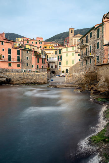 Tellaro, Liguria, Italy Water Architecture Building Exterior Built Structure Building Nature Waterfront Sky Residential District Day No People Land Outdoors Flowing Water Travel Destinations Tellaro La Spezia Italy Liguria Village Fish EyeEm Best Shots EyeEm Nature Lover EyeEm Selects
