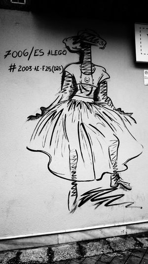 Art And Craft Creativity Human Representation Representation Male Likeness Wall - Building Feature No People Text Sketch Drawing - Art Product Paper Western Script Close-up Graffiti Wall Communication Female Likeness Architecture Mural Scribble Message Pencil Drawing Blackandwhite Monochrome Fashion
