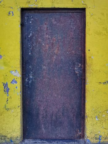 Door to... EyeEmNewHere South Africa Yellow Door Door To Colors Yellow Multi Colored Paint Close-up Rusty Yellow Background Peeling Off