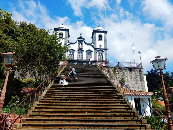 Igreja do Monte Igreja Iglesia Monte Funchal Madeira Island Culture Tree City Steps Sky Architecture Cloud - Sky Building Exterior 2018 In One Photograph