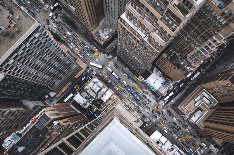 Manhattan Traffic ► Traffic Jam Traffic NYC Photography NYC LIFE ♥ NYC Nee York City Newyorkcity Building Exterior Built Structure City Architecture High Angle View Building Cityscape Street