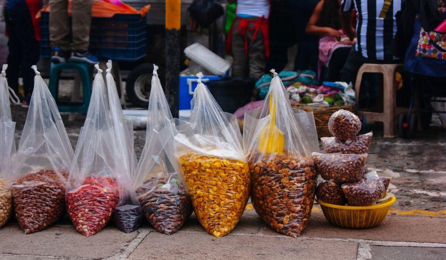 Food Holy Week Travel Destinations Traveling City Multi Colored Market Choice Market Stall Food And Drink For Sale Price Tag Various Display Street Market Variety