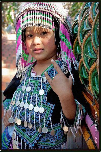 Thai Hilltribe Girl Thailand Thai Girl Hilltribe Girl Traditional Costume