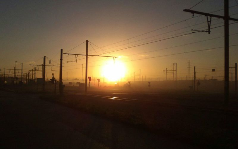 Work Morning Sky Train Station Public Transportation
