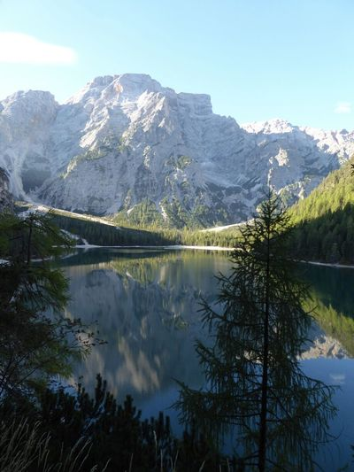 Dolomites, Italy Mountain_collection Reflection_collection Lago Di Braies