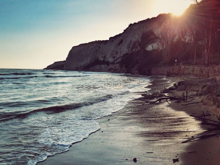 Costa Sud - Sicilia Beach Sea Water Shore Tranquil Scene Scenics Sunlight Tranquility Beauty In Nature Nature Mountain Sunbeam Coastline Wave Sun Sunny Lens Flare Outdoors Day Tide Sunset Sunset_collection Solitude Landscape_Collection