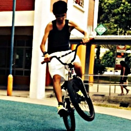 Throwback when I was a Bmx Rider Bmx  Hanging Out Bunny Hop practice