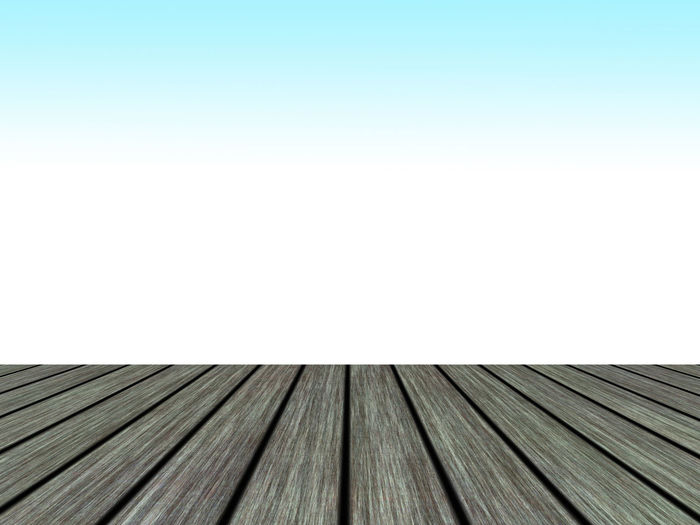 Close-up of wooden roof against clear sky