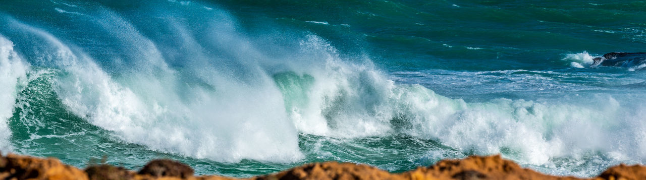 Roar, waves and wind, Sea Water Motion Wave Power Beauty In Nature Power In Nature Aquatic Sport Scenics - Nature Surfing Sport Nature Land Rock Blurred Motion Environment Day Outdoors Flowing Water Breaking Jason Gines Ocean Breaking Waves