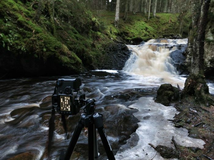 Taking Photos Landscape Waterfall Forest