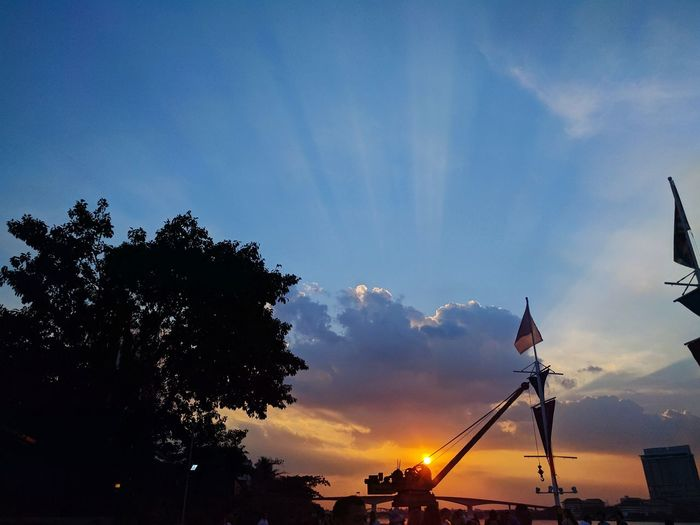 Sunset Scene at Asiatique Sunset SkyAsiatique The Riverfront Thailand Silhouette Sunset No People Tree Outdoors Nature First Eyeem Photo