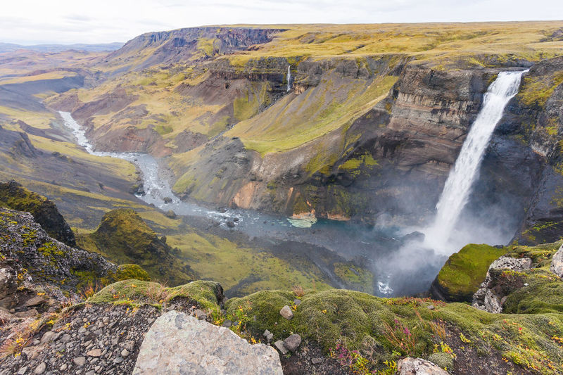 Love EyeEmNewHere Iceland Beauty In Nature Cliff Háifoss Landscape Mountain Nature No People Outdoors River Scenics Water Waterfall The Week On EyeEm EyeEm Nature Lover EyeEm Best Shots EyeEm Selects Perspectives On Nature Go Higher