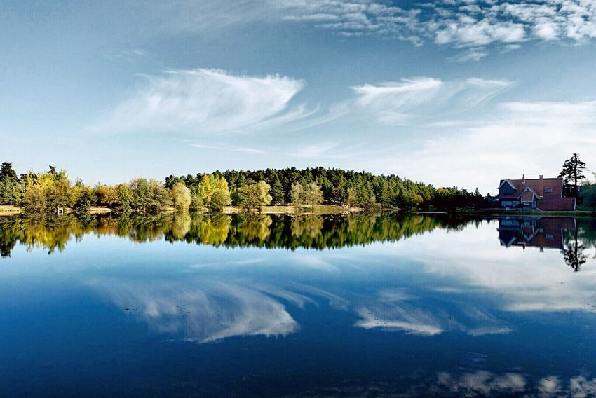 Bolu Golcuk Reflection Lake Water Tree Travel Nature Symmetry Reflection Lake Tranquility Outdoors Sky Landscape Scenics Day No People