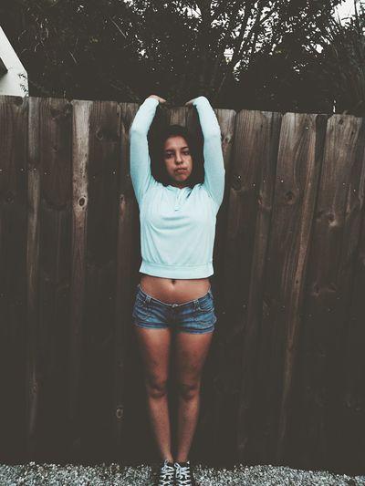 Girl Beautiful Girl Fence One Girl No Emotion