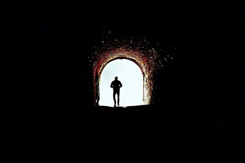 The City Light Silhouette Men Tunnel One Man Only People One Person Travel Real People EyeEmNewHere GetbetterwithAlex Nofocus  Art ArtWork Contrast Mobilephotography PhonePhotography Smartphonephotography Welcome To Black