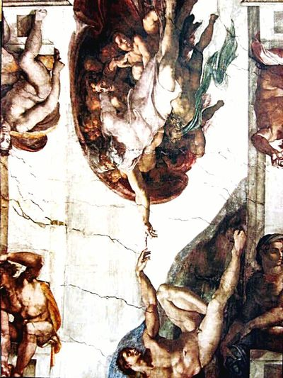 Sistine Chapel  Rome Rome Italy Vatican Michaelangelo Painting Cieling Gods Creation God's Creation Adam&eve this photo is an eyem tag cover photo here: