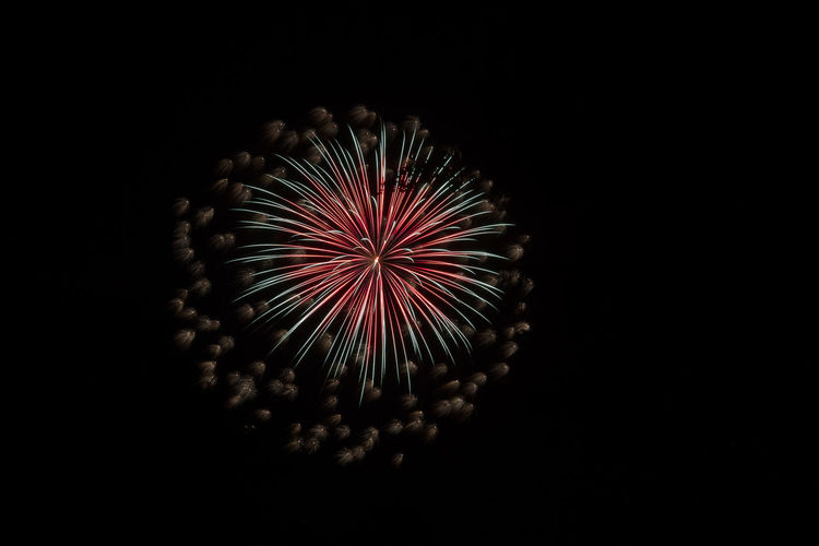 Arts Culture And Entertainment Black Background Close-up Exploding Firework - Man Made Object Firework Display Illuminated Long Exposure Low Angle View Night No People Outdoors Sky