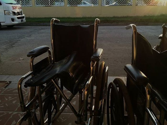Sunrise this morning. Guyana Southamerica Caribbean Medicine Medical Medicallife Healthcare Health Sickness Mortality Morbidity Disease Socialcommentary Culture Tradition Lifestyle Psychology Sunrise Ambulance Wheelchair Suffering Pain Loss Death Sacrifice acceptance