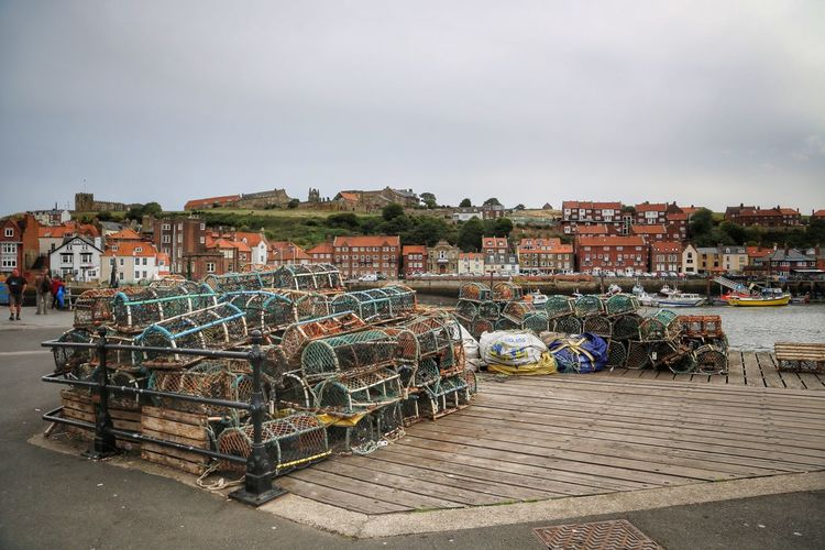 Whitby Whitby Abbey Whitby Bram Stoker Sky Water Architecture Built Structure Building Exterior City Transportation Day Nature Nautical Vessel Cloud - Sky Outdoors Mode Of Transportation Building Pier No People Fishing Industry Harbor Fishing Port