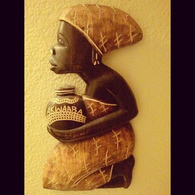 Dope wood carving from Africa on my friends wall Woodcarving Africa Akwaaba Welcome
