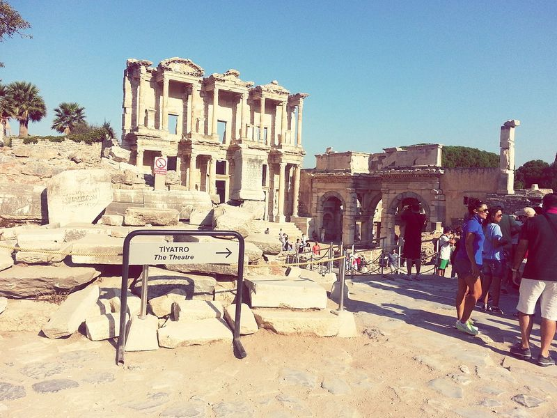 Efes ızmir Ephesus Theatre NiceShot Niceview Library Antique Nice Pic
