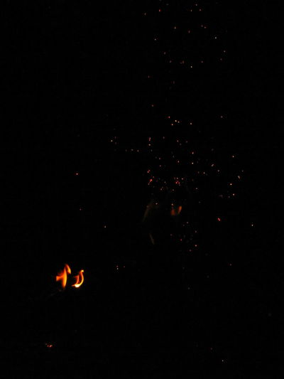 Fire Fire Flame Orange Color Orange Wood Yellow Black No People Night Astronomy Space Outdoors Nature Close-up Sky Galaxy