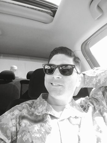 Sunny Day Perfectweather Raybans ArmyLife Chilling Whatsup! Enjoying Life Black And White Texas Texasmade