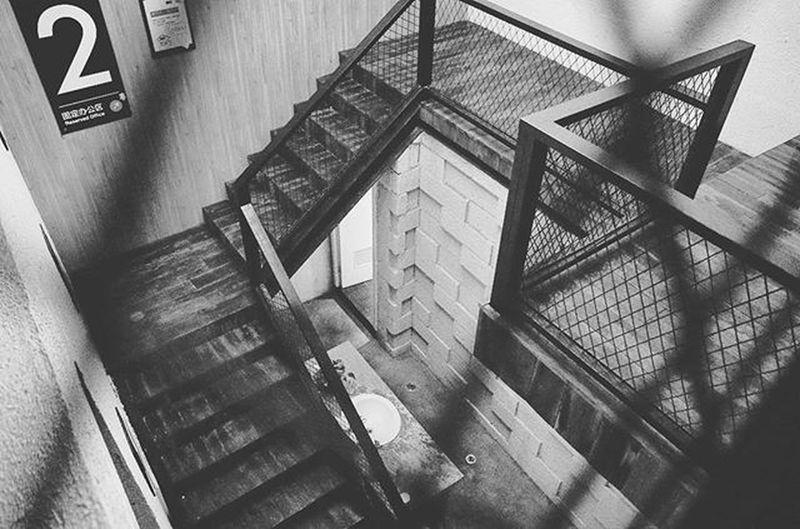 樓梯. Building Canton Guangzhou Blackandwhite