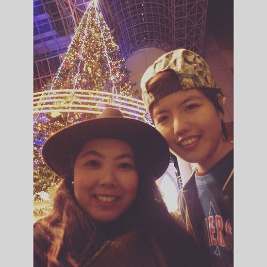 Marry Christmas to u ! I'm so glad to meet u,start to miss u after i got on the bus Marrychristmas  Chrismastree