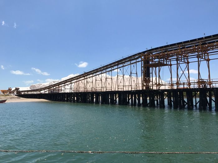 Salinas Diamante Branco Architecture Built Structure Bridge - Man Made Structure Connection Day Blue Sky River Transportation Outdoors Water No People Building Exterior Nature