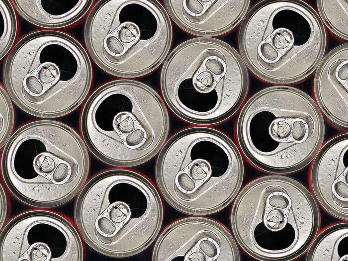 Full frame shot of drink can