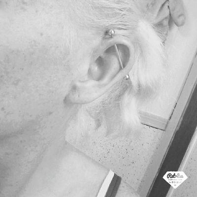 New Piercing :) Love My New Piercing  My Industrial Piercing