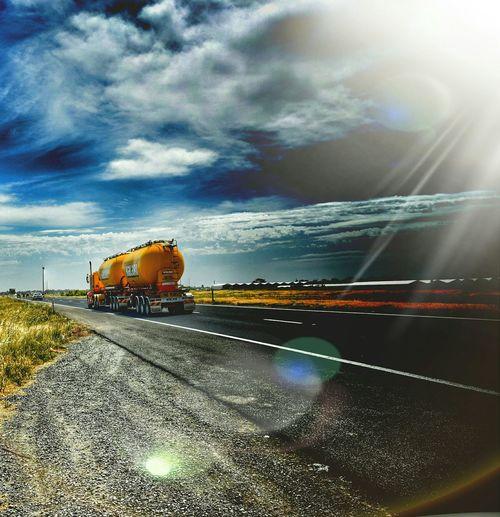 Taking Photos Highway Roadtrain Semitruck Petrol Tanker Sunshine Sunrays Eye4photography  Check This Out EyeEm Gallery