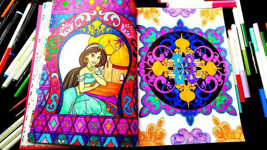 Colorful Coloringbook Relaxing Time Disney Ilovedisney Art