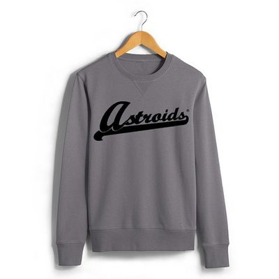 @astroids Full Front Embroidered Crewneck Sweater. Dropping in February $45 Limited Exclusive. Astroids California Streetwear Fashion 916 Streetwear