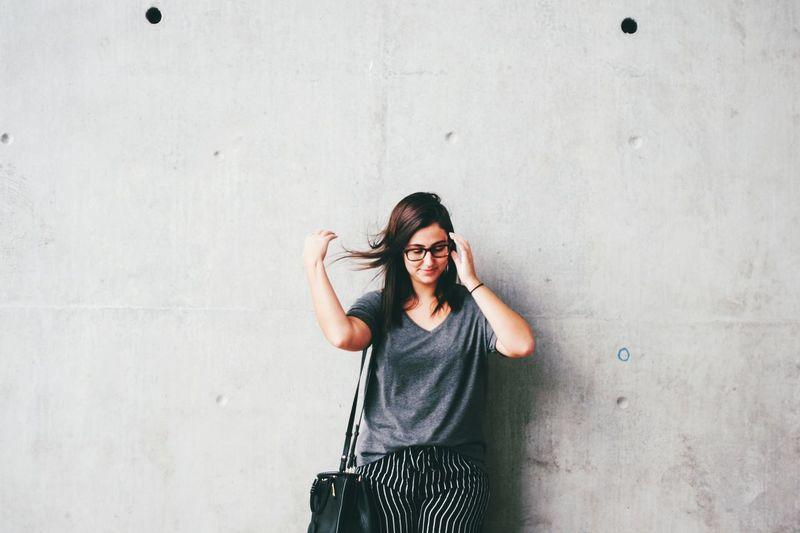 The Week on EyeEm Canon Girlpower Human Hand Eyeglasses  Standing Confidence  Concrete Wall The Portraitist - 2018 EyeEm Awards