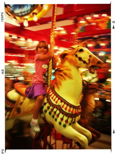 Happy Girls Carrousel Color Sunday
