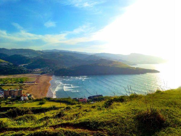 Zierbena, Punta Lucero, Playa de La Arena Bizkaia Beautiful Sunset Pictureoftheday Playa De La Arena
